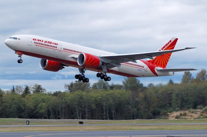 air india taking off