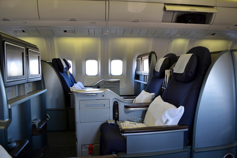 United Business  Denver to San FranciscoUnited Airlines First Class 767